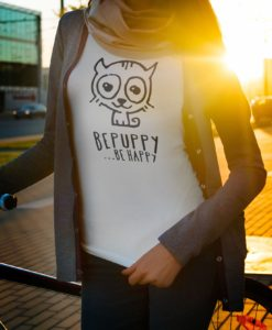 Magliette da donna bepuppy be happy! Cat lover t-shirts - BEPUPPY