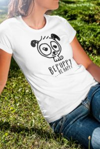 T-shirt donna bepuppy be happy, Dog Lover - BEPUPPY