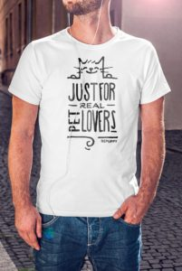 T-shirt uomo just for real pet lovers! Maglietta per Cat lover - BEPUPPY