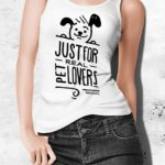 Canottiere da donna just for real pet lovers - BEPUPPY