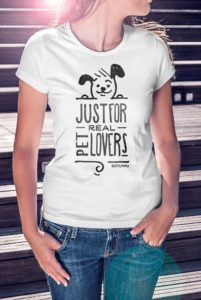 T-shirt da donna, just for real pet lovers! Dog lovers - BEPUPPY